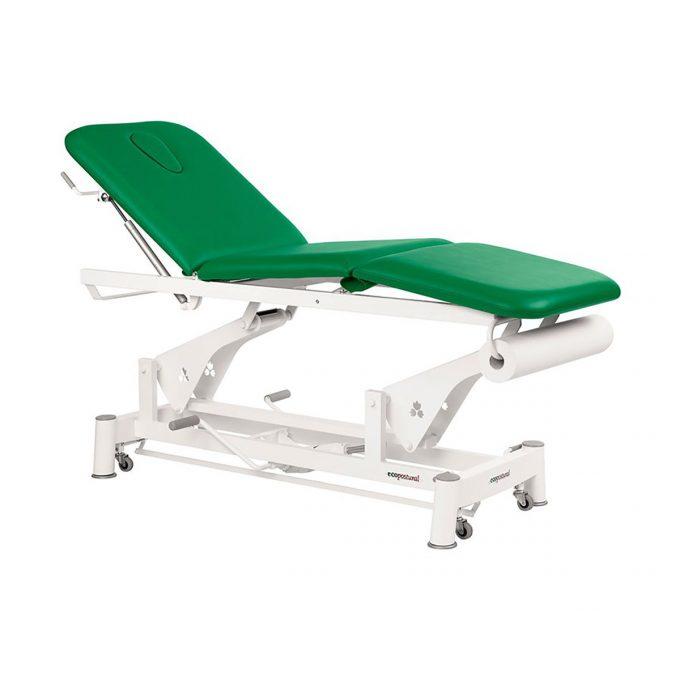 Table 3 plans massage Ecopostural à bielle avec pompe hydraulique et roulettes