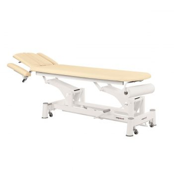 Table de massage Ecopostural avec têtière réglable dossier inclinable et porte rouleau
