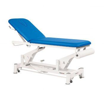 Table de massage à bielle Ecopostural réglage pompe hydraulique de la hauteur, bleuet