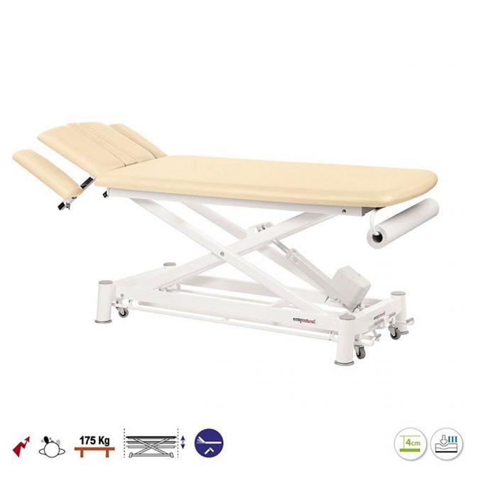 table ecopostural massage et examen médical électrique à ciseaux couleur crème