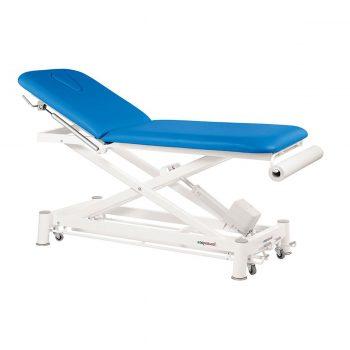table ecopostural massage et examen médical électrique à ciseaux couleur bleu