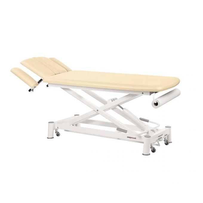 Table de massage 2 plans, ciseaux, réglable en hauteur, Ecopostural