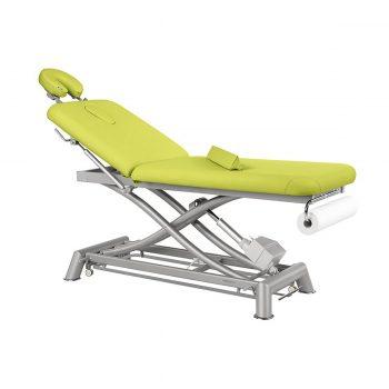 Table ecopostural avec têtière amovible coussin dorsal réglage hauteur électrique à ciseaux