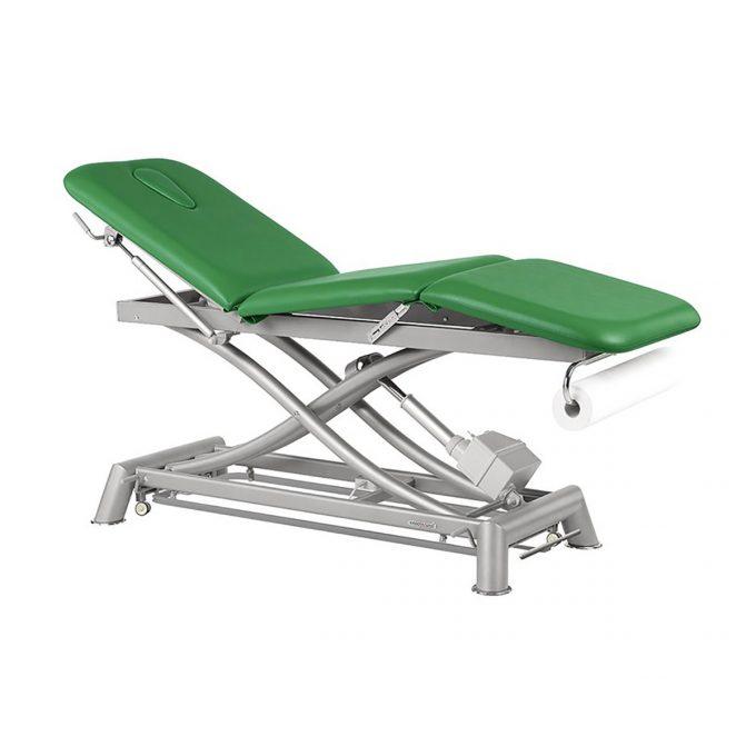 table de massage Ecopostural à moteur rapide réglable en hauteur, 3 plans assise et dossier inclinables, 200 kg
