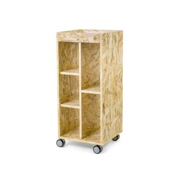 chariot à roulettes de coiffure en bois stratifié