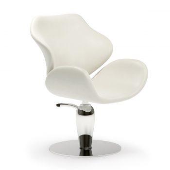 fauteuil de coiffure avec pied rond spécial et pompe hydraulique revêtement en similicuir